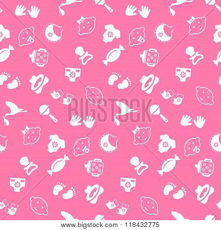 Baby seamless pattern vector background. Vector illustration.
