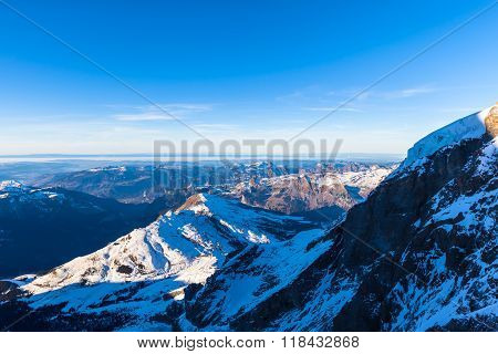 Panorama View Of The Bernese Alps From Jungfraujoch