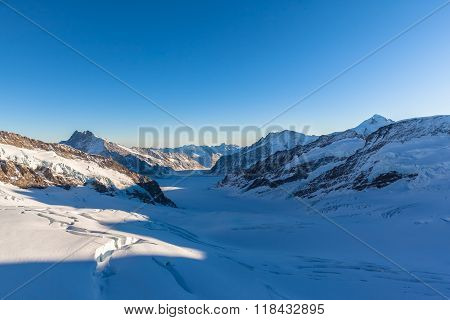 Stunning View Of Aletschglacier From Jungfraujoch