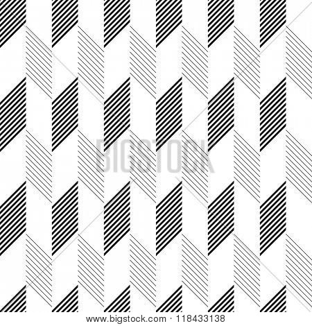 Seamless Zig Zag Pattern. Abstract  Monochrome Background