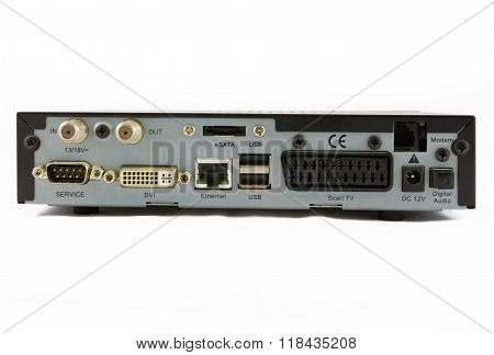 Satellite Receiver Set Top Box Rear View