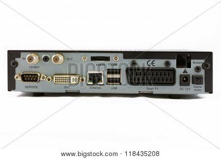Satellite Receiver Set Top Box Rear View