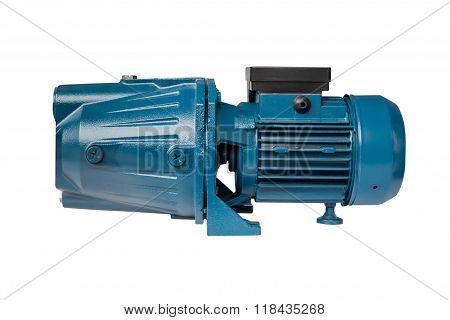 motor for the water pump isolated on a white background