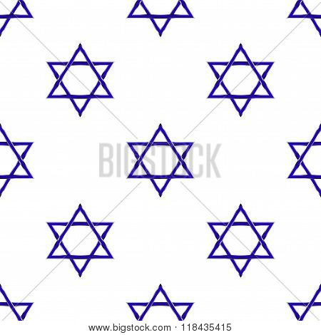 Star of David seamless pattern vector background