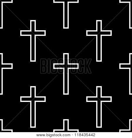Religious cross seamless pattern