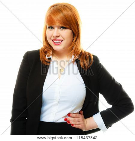 Redhaired Business Woman Portrait