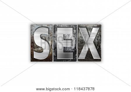 Sex Concept Isolated Metal Letterpress Type