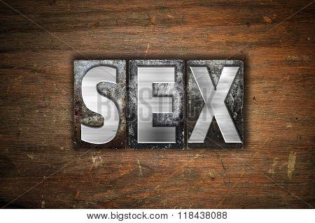Sex Concept Metal Letterpress Type