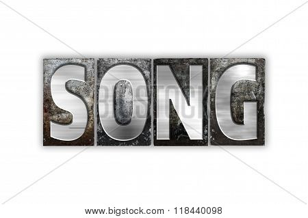 Song Concept Isolated Metal Letterpress Type