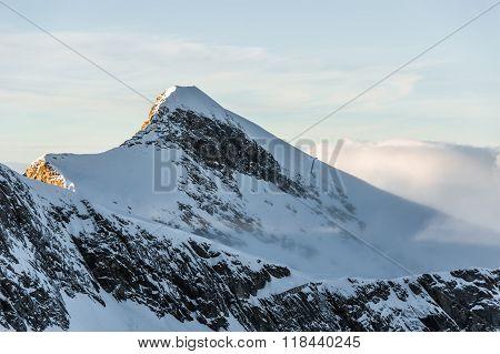 Mountains ski resort Kaprun Austria - nature and sport background.