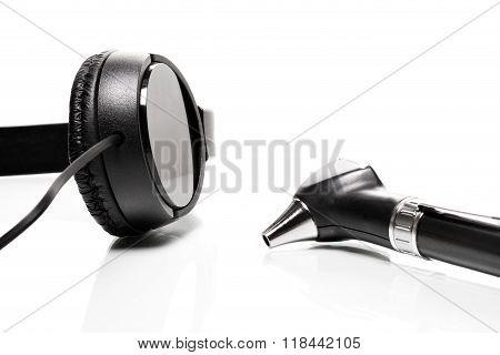 Headphones And Otoscope