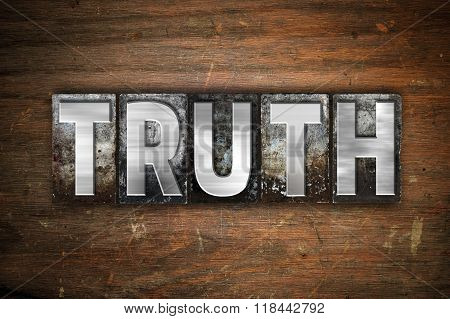 Truth Concept Metal Letterpress Type