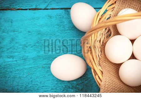 Easter Egg lying in a basket