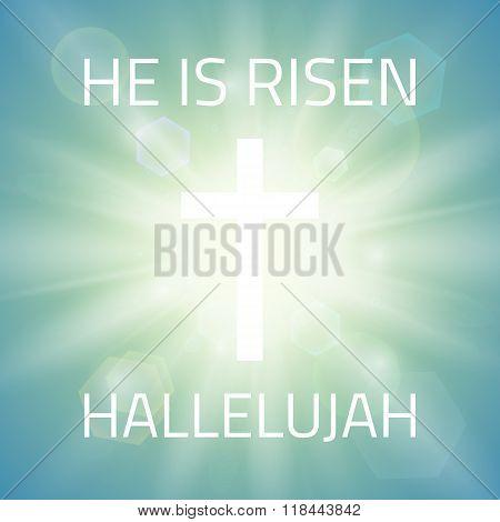 He is risen, Hallelujah.
