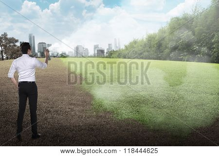 Spraying The Landscape