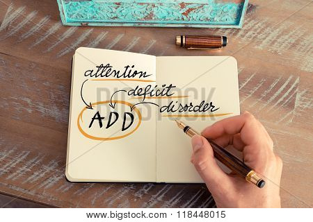 Acronym Add Attention Deficit Disorder