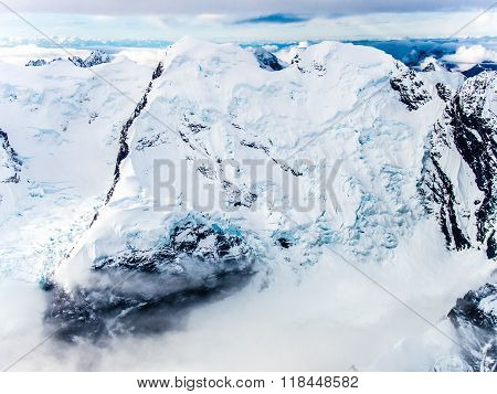Mountaintop Glaciers In Denali