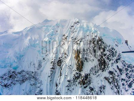 Icy Peaks In Denali