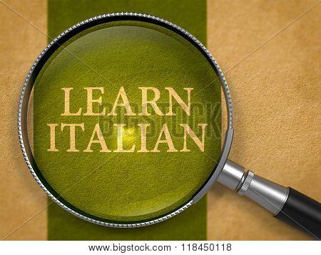 Learn Italian Concept through Magnifier.