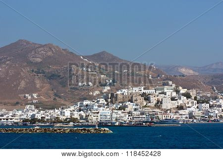Panoramic view of Naxos, Greece