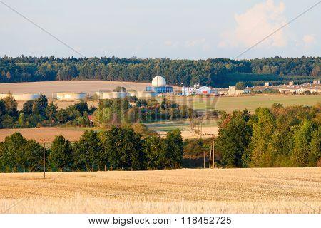 Bio gas plant in nature