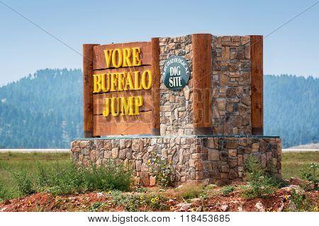 Vore Buffalo Jump Sign