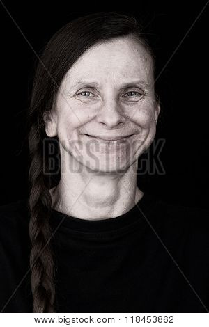 Smiling Adult Woman With A Positive Expression