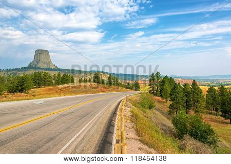 Devils Tower And Highway