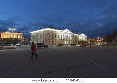 Vladimir, Russia - November 05.2015. Children's art school in the past provincial Gymnasium for Boys, built in 1841