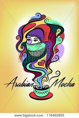 Colorful Oriental Arabian Mocha Poster