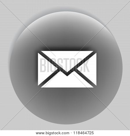 Flat Style Icon Of Envelope. Sms Or E-mail