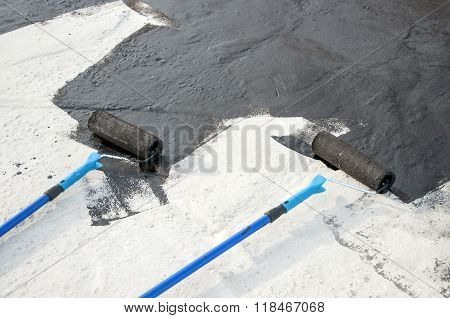 Roller Brush, Tool For  Waterproofing
