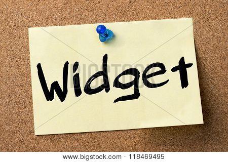 Widget - Adhesive Label Pinned On Bulletin Board