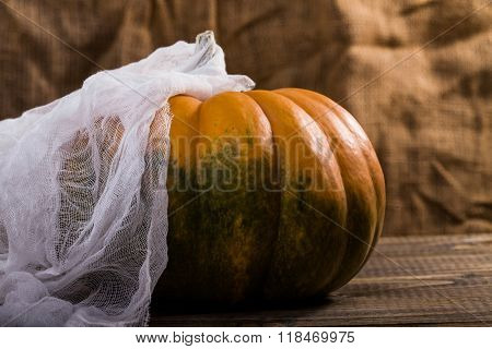 Beautiful Pumpkin With Gauze