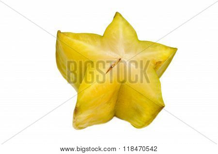 Close Up View Of The Carambola On White