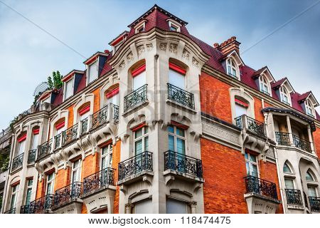 Facade of Parisian building