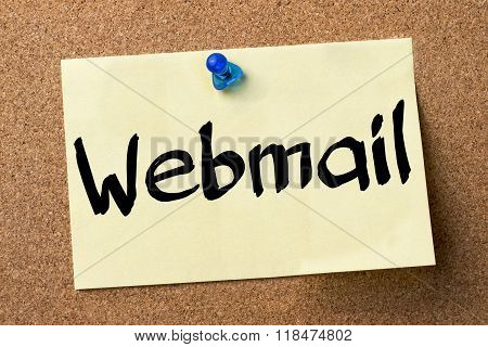 Webmail - Adhesive Label Pinned On Bulletin Board