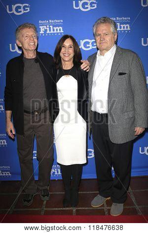 SANTA BARBARA - FEB 12:  Billy Hayes, Sally Sussman, Tom Morina at the 31st SBIFF- Cinema Vanguard Award at the Arlington Theatre on February 12, 2016 in Santa Barbara, CA