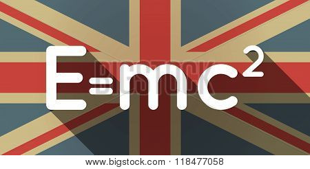 Long Shadow Uk Flag Icon With The Theory Of Relativity Formula