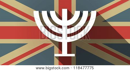Long Shadow Uk Flag Icon With A Chandelier