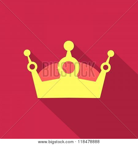 King crown flat design