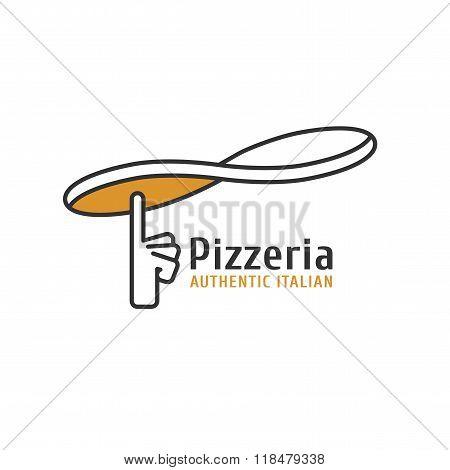 Vector logo, design element for pizza, pizzeria, pizza delivery