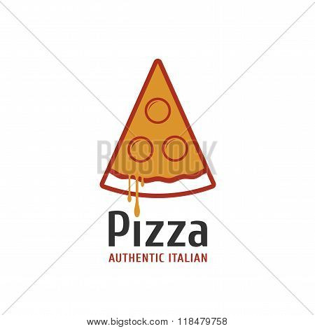 Vector logo, design element for pizza, pizzeria