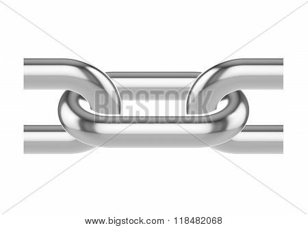 Seamless Metal chain links. 3d illustration