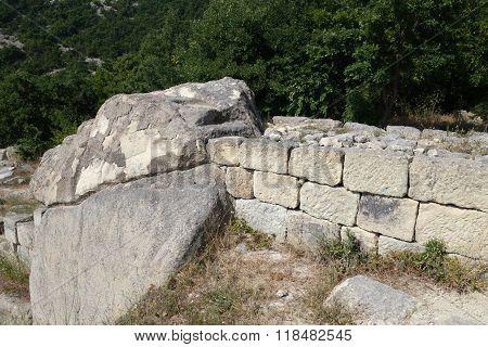 The historical complex Perperikon in Bulgaria