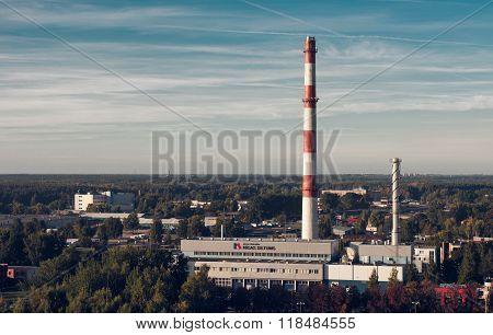 Power Plant In Riga. Latvia