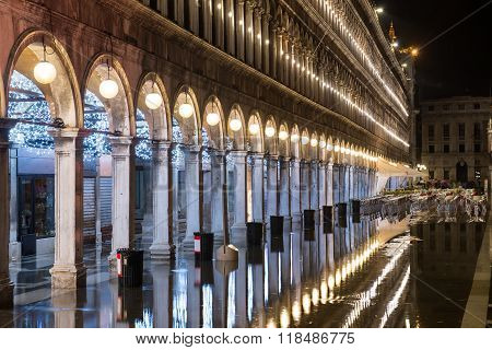 Square Of San Marco At Night - Italy