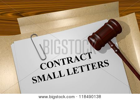 Contract Small Letters Concept
