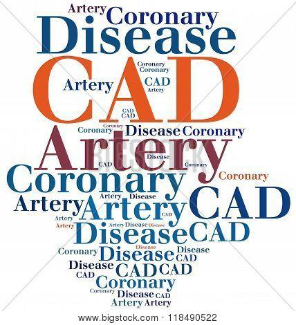 Cad - Coronary Artery Disease. Disease Concept.
