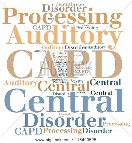 Capd - Central Auditory Processing Disorder. Disease Concept.